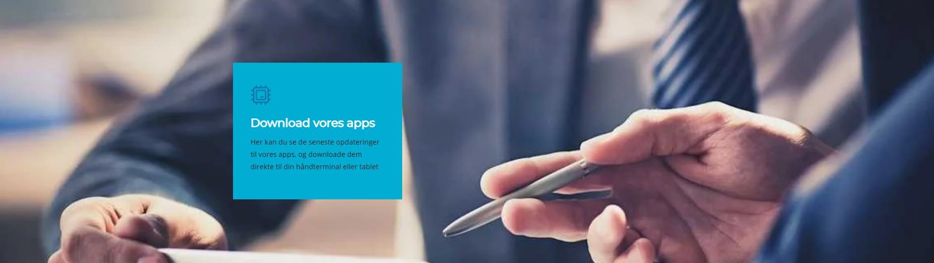Download apps header