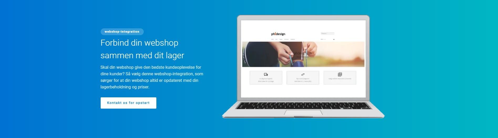 webshop-integration header